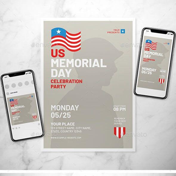 Memorial Day Flyer Set