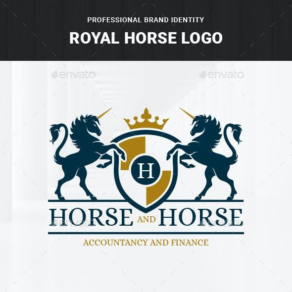 Royal Horse Logo Template