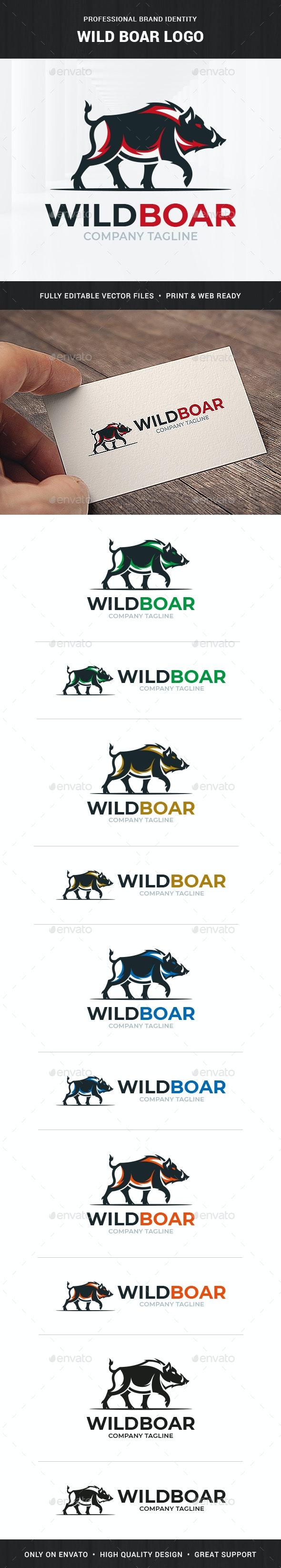 Wild Boar Logo Template - Animals Logo Templates