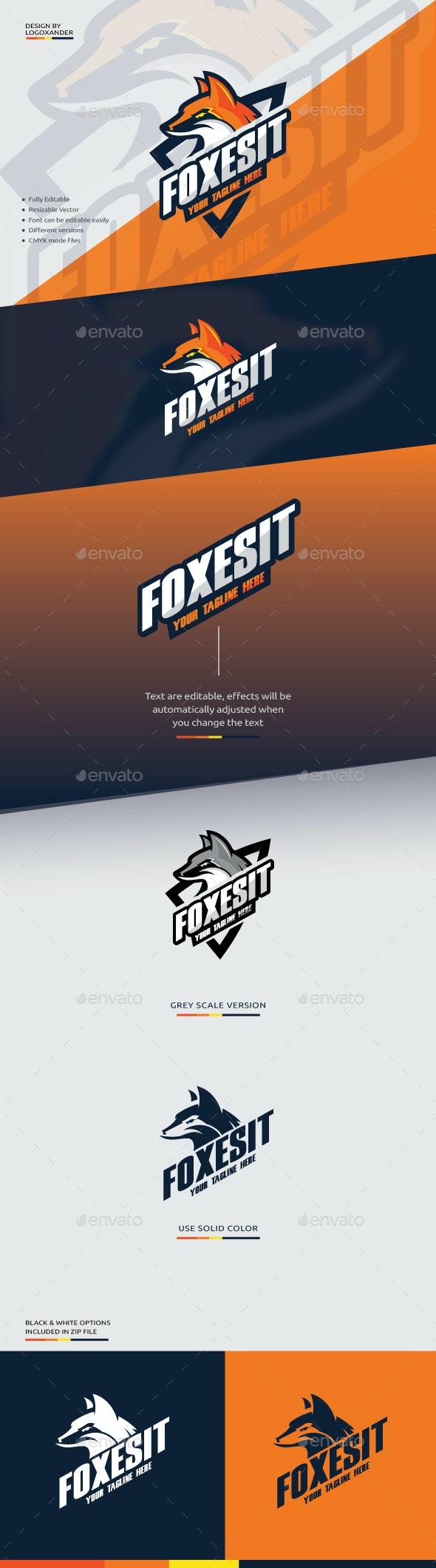 Fox Mascot Logo - Sports Logo Templates