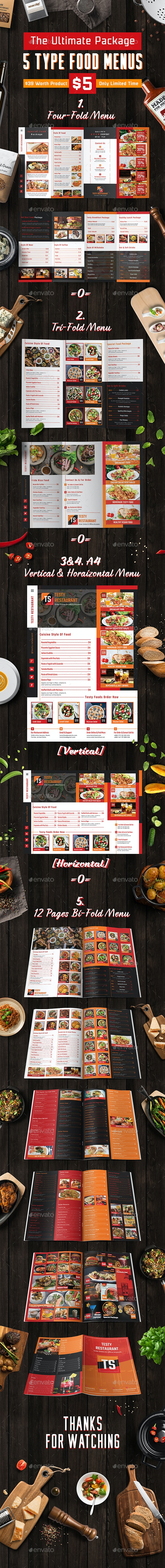 Testy Food Menu Packages - Food Menus Print Templates