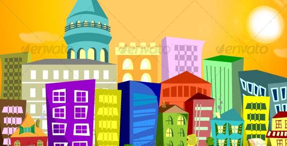 Sunshine City - Buildings Objects