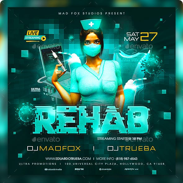 Rehab Party Flyer