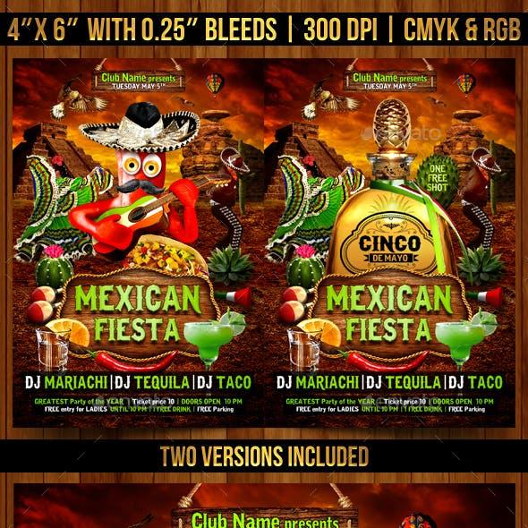 Mexican Fiesta Flyer Template
