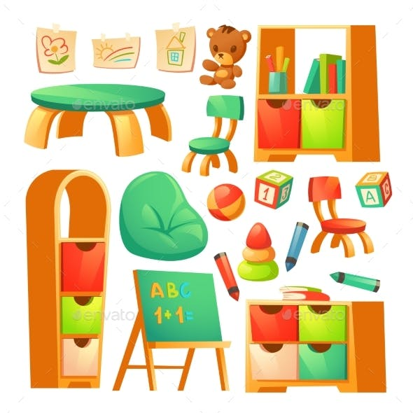 Furniture in Montessori Kindergarten