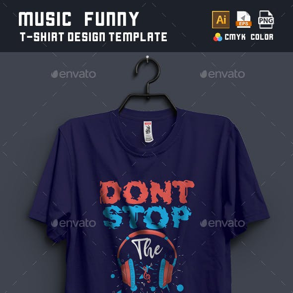 Music Funny T-shirt Design