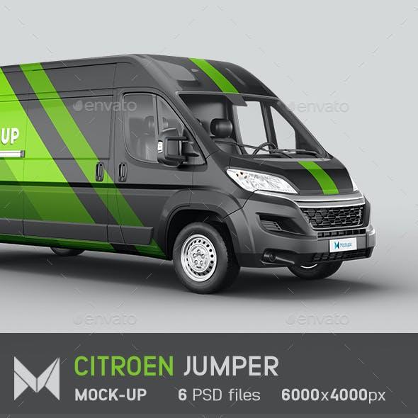 Citroen Jumper Van Mockup