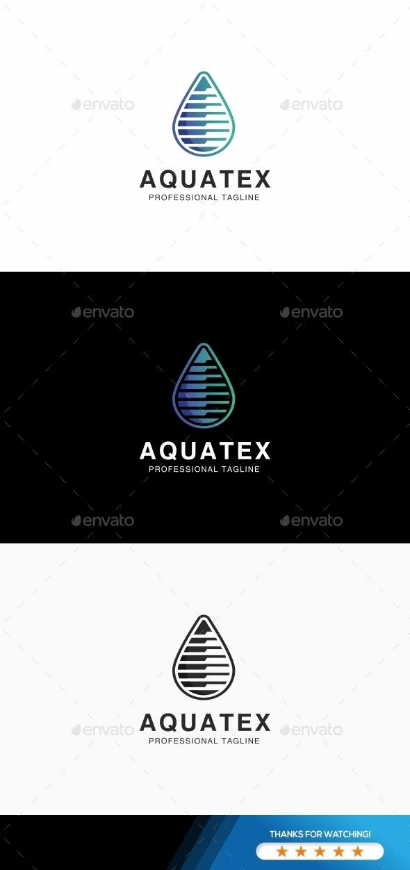 Water Drop Technology Logo - Abstract Logo Templates