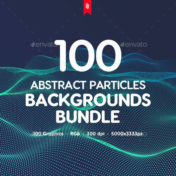 100 Different Particles Backgrounds Bundle