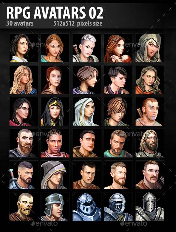 RPG Avatars 02 - Miscellaneous Game Assets
