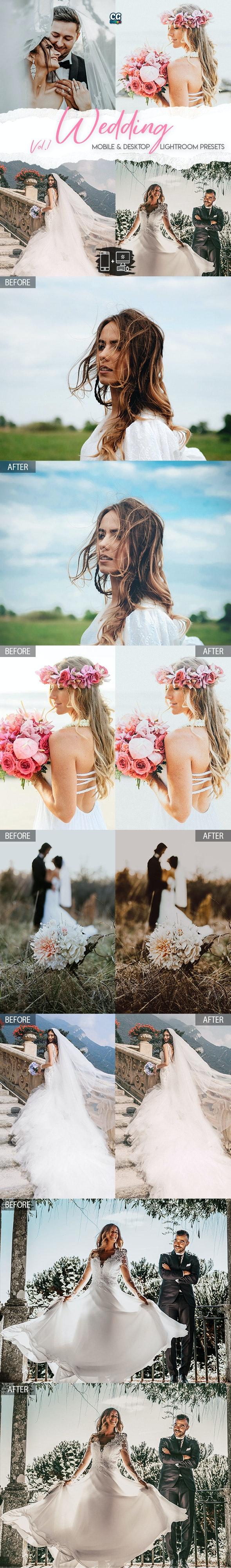Wedding Lightroom Presets Vol. 1 - 15 Premium Lightroom Presets - Wedding Lightroom Presets