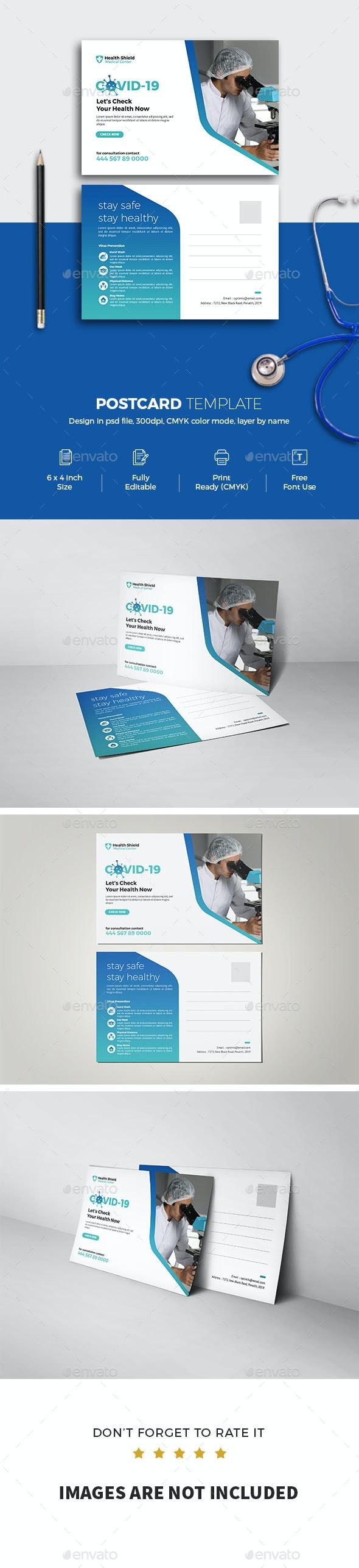 Covid 19 Postcard - Cards & Invites Print Templates