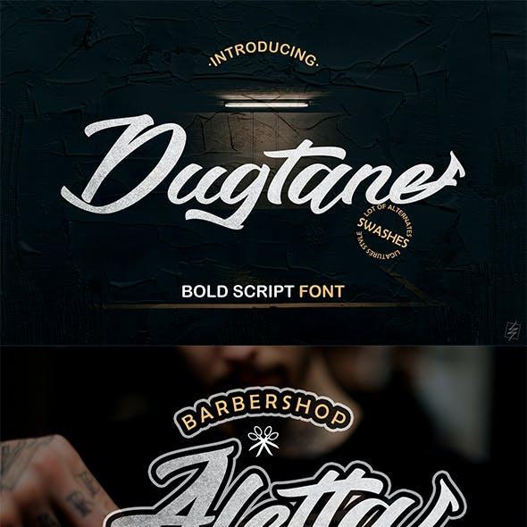 Dugtane Script Font