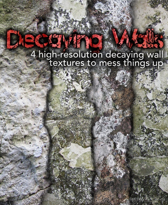 Decaying Walls Pack - Industrial / Grunge Textures