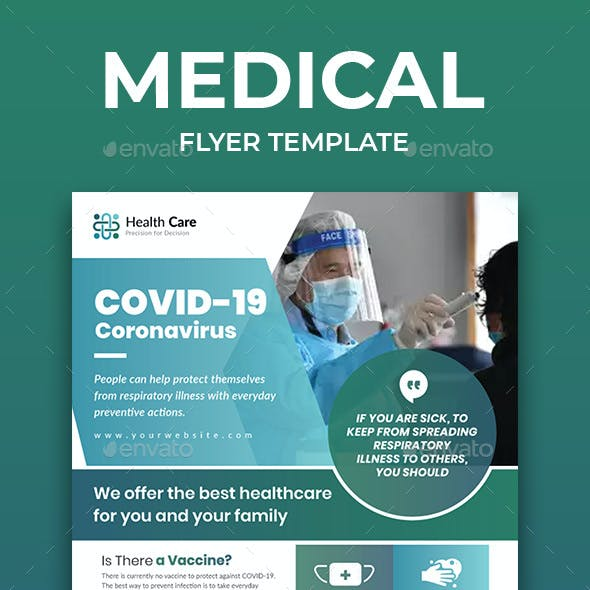 Medical Flyer Template for COVID -19
