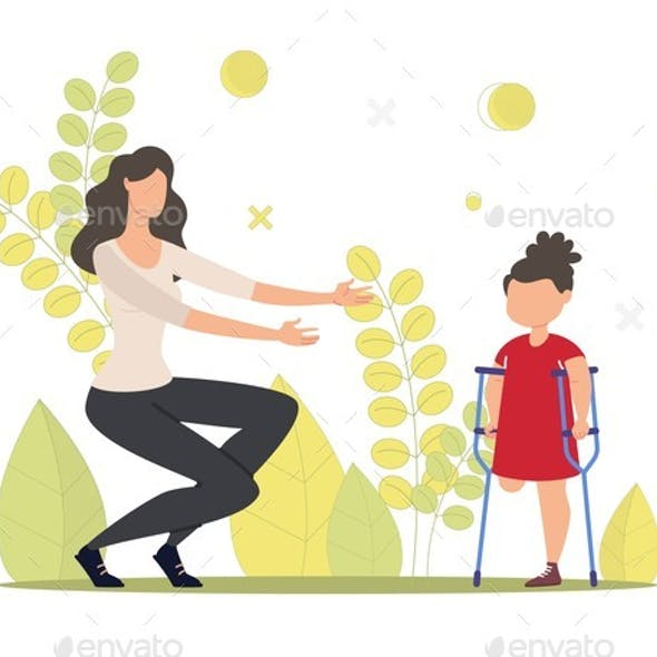Injured Child Rehabilitation and Support Vector