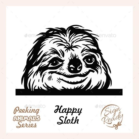 Peeking Sloth - Funny Sloth Peeking Out