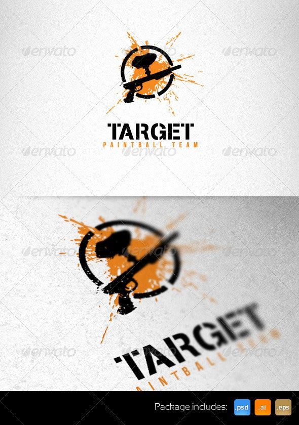 Target Paintball Team Creative Logo Template - Objects Logo Templates