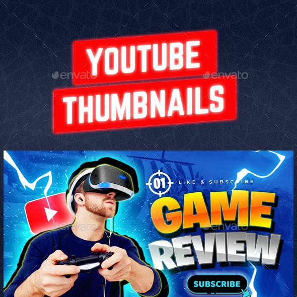 Youtube Thumbnail Templates Set 2 - 6 in 1