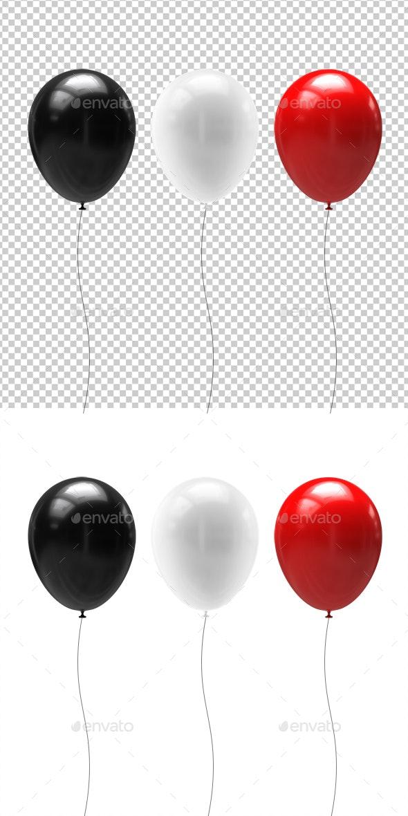 Balloons - 3D Renders Graphics
