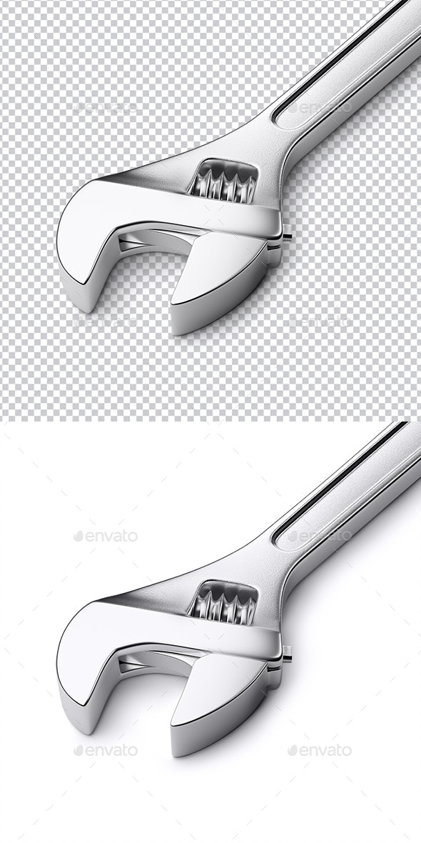Adjustable wrench - 3D Renders Graphics