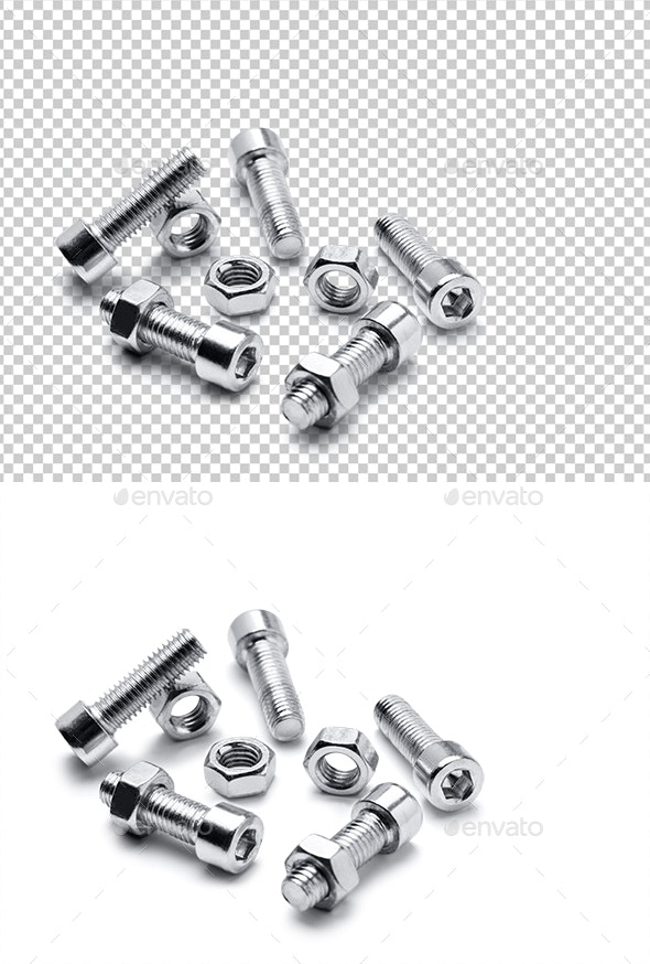 Nuts and Bolts - 3D Renders Graphics