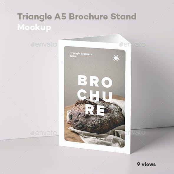 Triangle A5 Brochure Stand-Mockup
