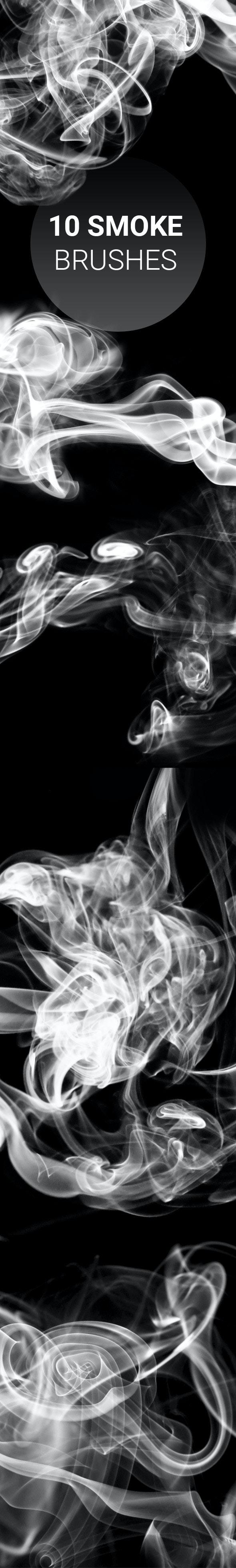 10 Smoke Brushes - Brushes Photoshop