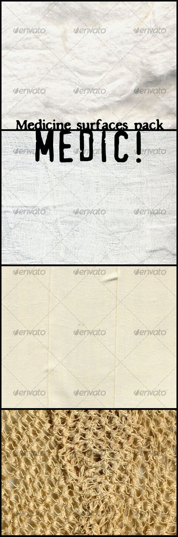 Medic! Medicine surfaces pack - Fabric Textures