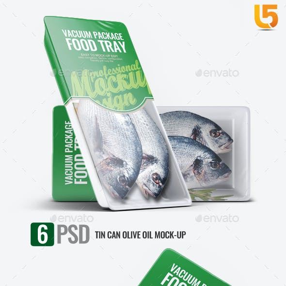 Plastic Food Tray Mock-Up