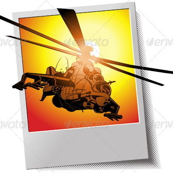Photo Frame with Helicopter