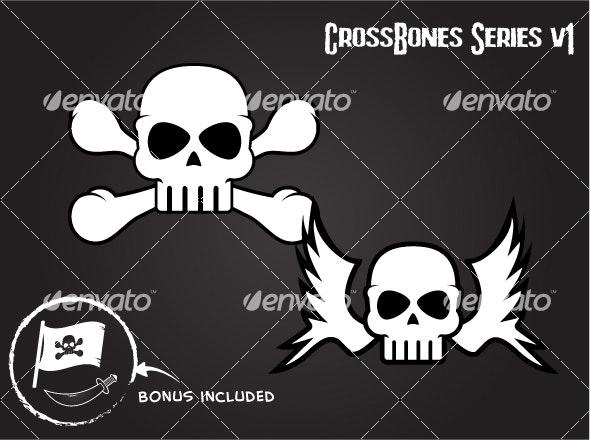 Skull and Crossbone Graphics - Miscellaneous Conceptual