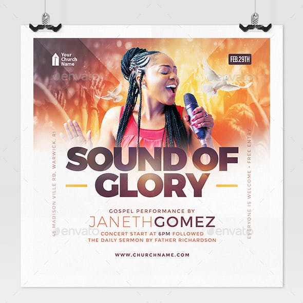 Sounds of Glory Church Flyer