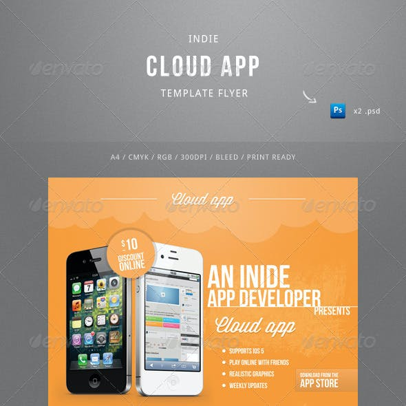 Indie Cloud App Flyer Template
