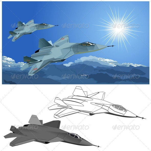 Stealth Fighter - Man-made Objects Objects