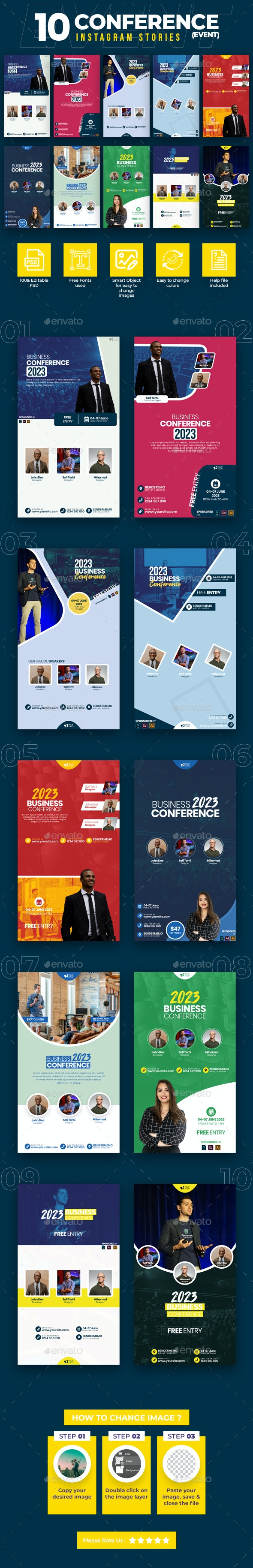 Event & Conference 10 Instagram Stories - Miscellaneous Social Media