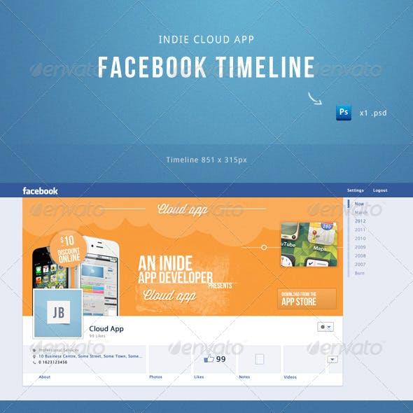 Indie Cloud App Facebook Timeline Template