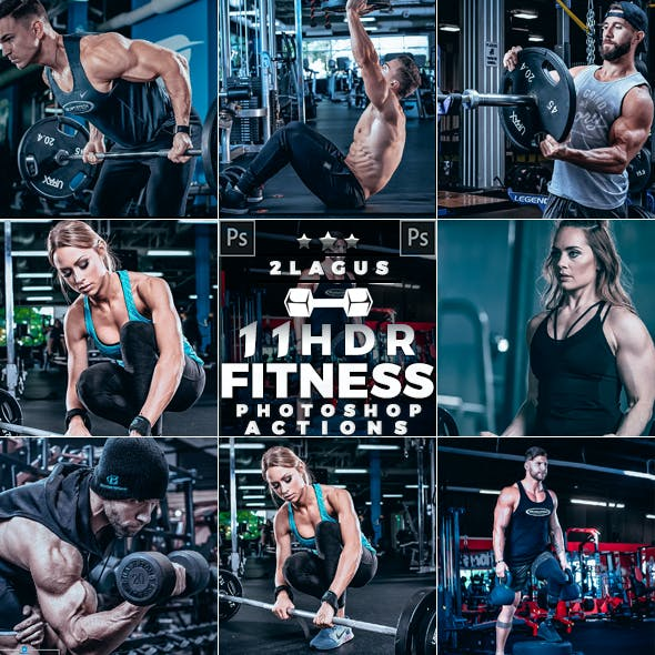 HDR Fitness Photoshop Actions
