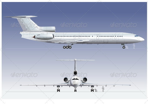 Passenger Airliner - Man-made Objects Objects