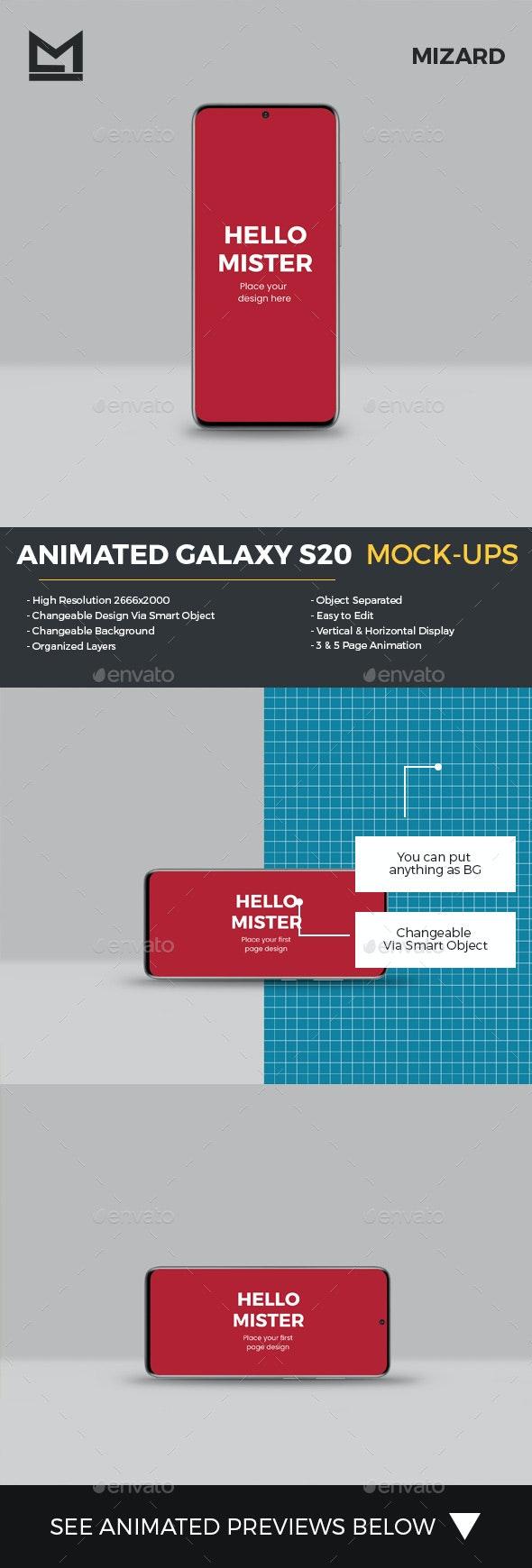 Animated Galaxy S20 Mockup - Mobile Displays