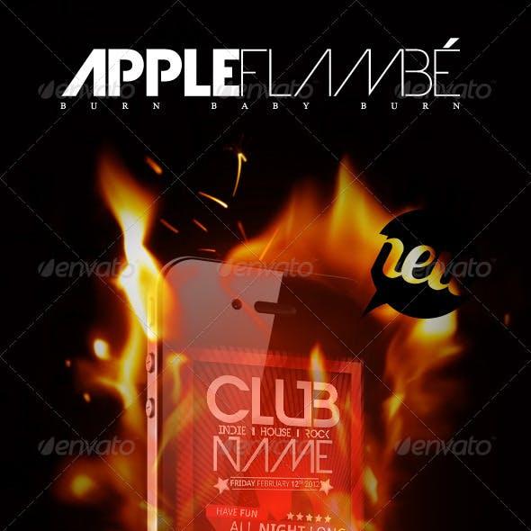 Smartphone Mock-up + Flames and Sparks