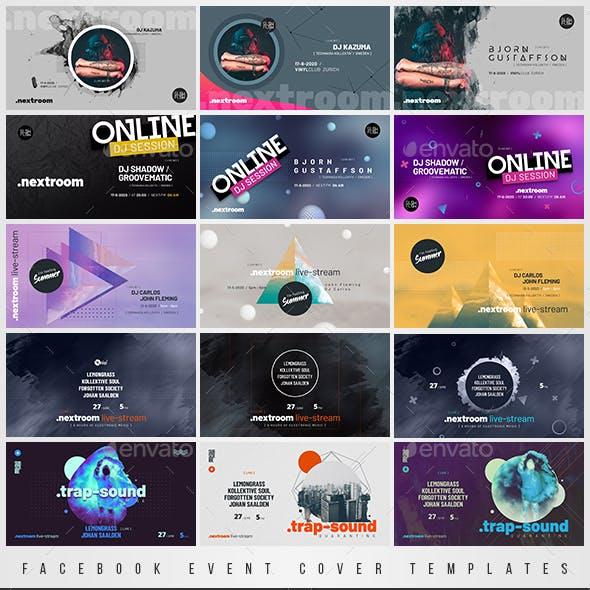 Online DJ Session – Facebook Event Cover Templates Bundle