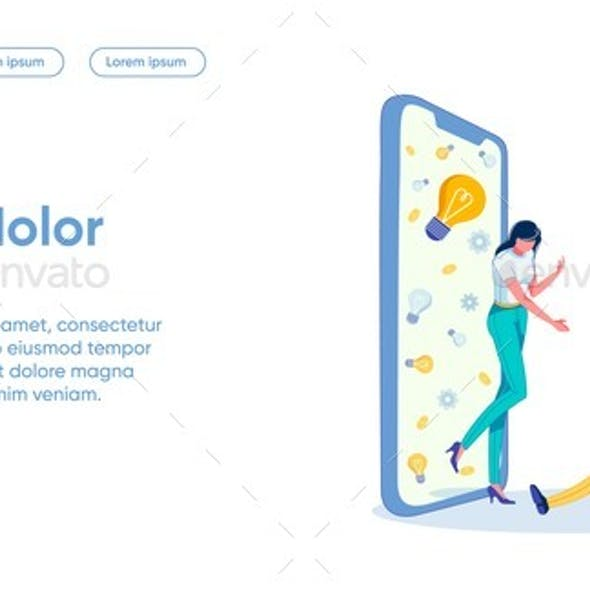 Partner Offer Flat Landing Page Vector Template