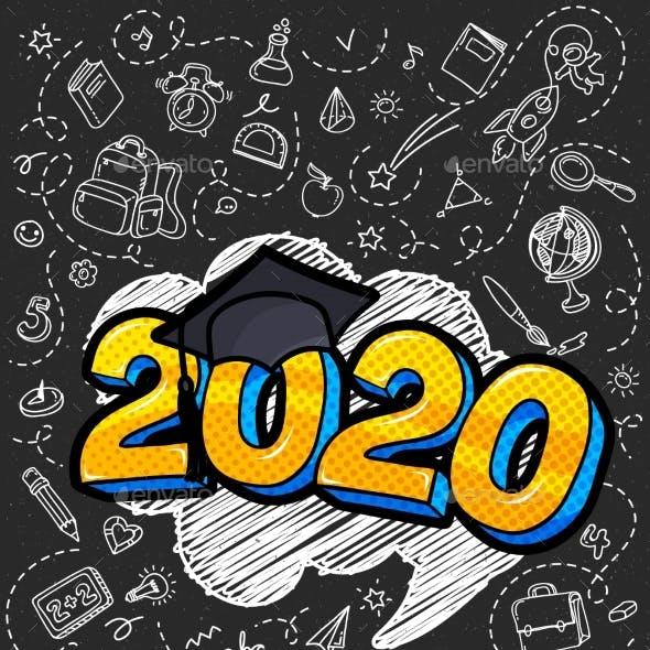 Concept of a Graduating Class of 2020