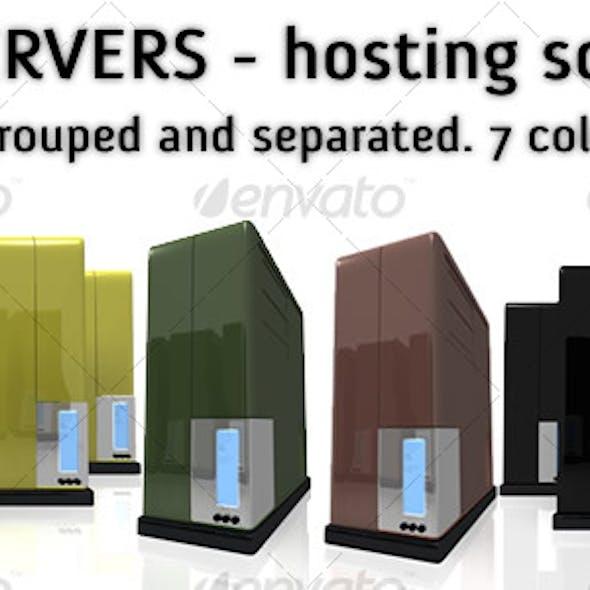 3D Servers. 7 colors