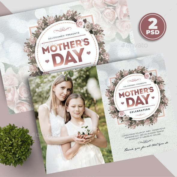 Mothers Day Card Flyer