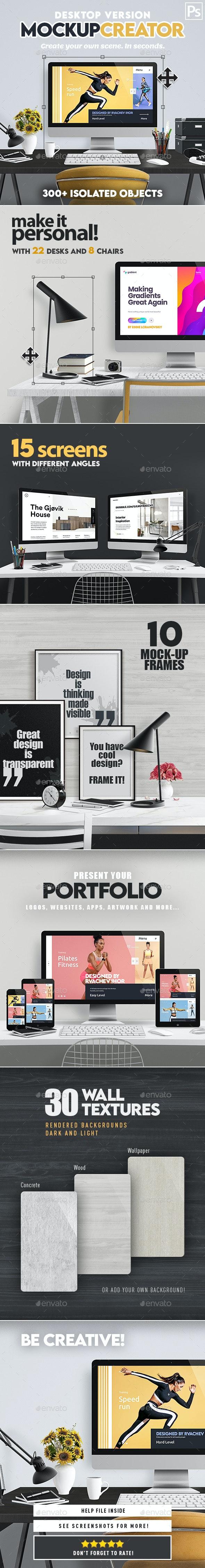 Desktop Mock-Up Creator - Hero Images Graphics