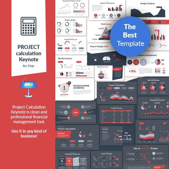 Project Calculation Keynote Presentation Template