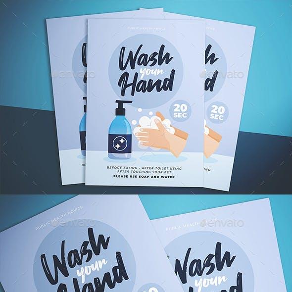 Wash Hand Reminder Flyer
