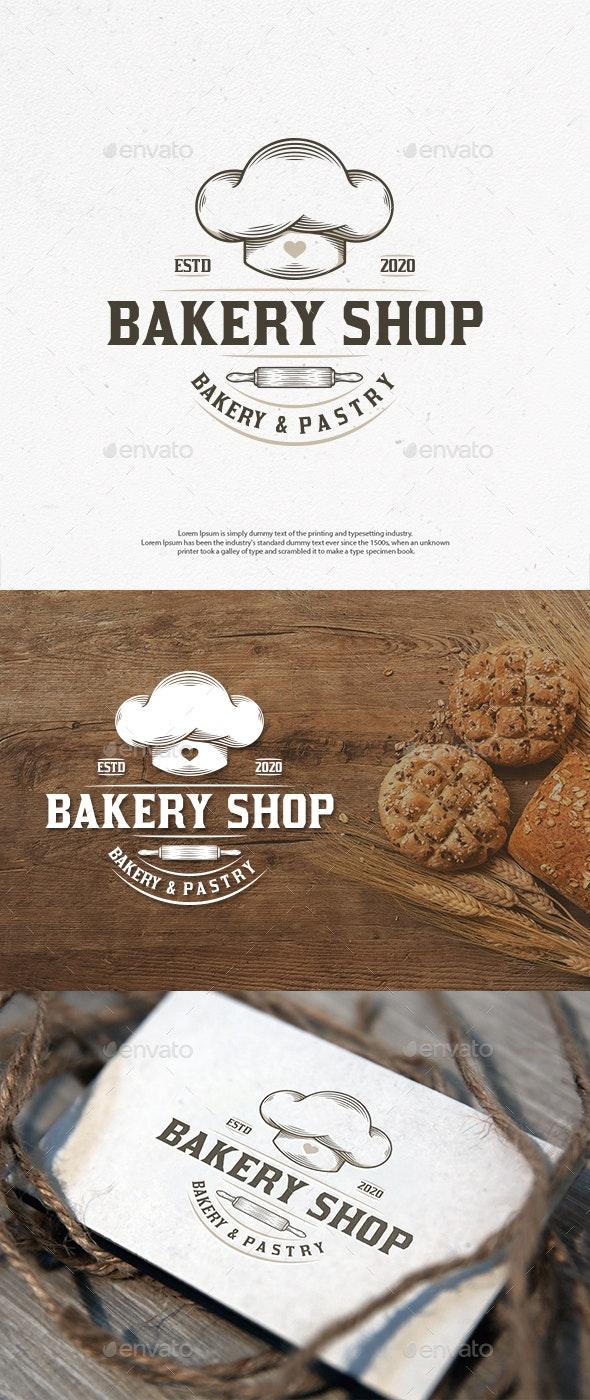 Bakery Shop Vintage Logo Template - Food Logo Templates